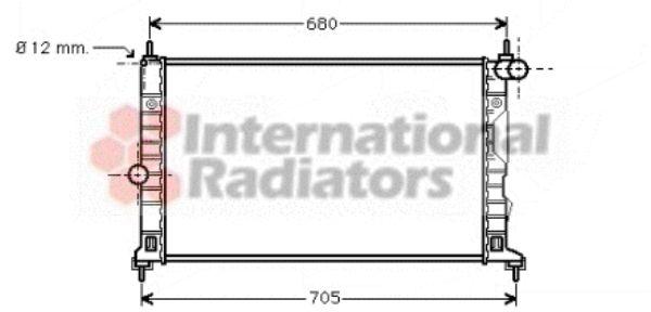 Radiateur, refroidissement du moteur - VAN WEZEL - 47002055