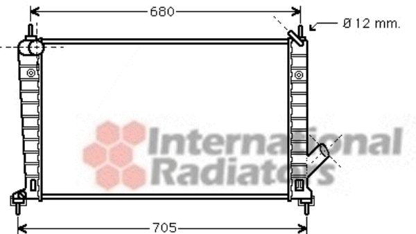 Radiateur, refroidissement du moteur - VAN WEZEL - 47002061