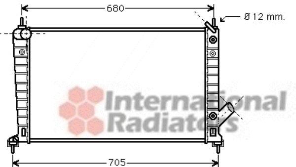 Radiateur, refroidissement du moteur - VAN WEZEL - 47002062