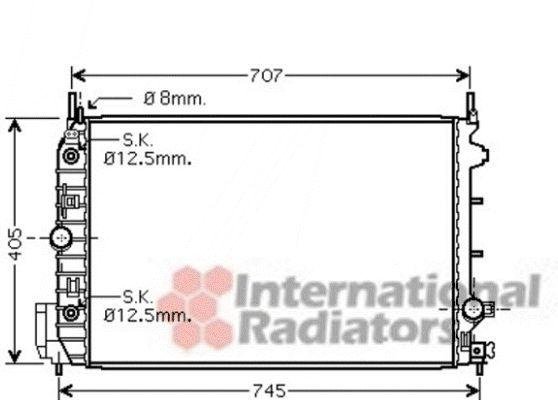 Radiateur, refroidissement du moteur - VAN WEZEL - 47002064
