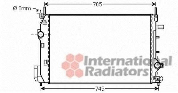 Radiateur, refroidissement du moteur - VAN WEZEL - 47002070