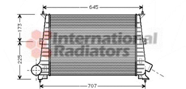 Intercooler, échangeur - VAN WEZEL - 47004047