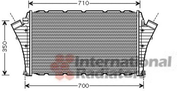 Intercooler, échangeur - VAN WEZEL - 47004066