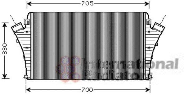 Intercooler, échangeur - VAN WEZEL - 47004068