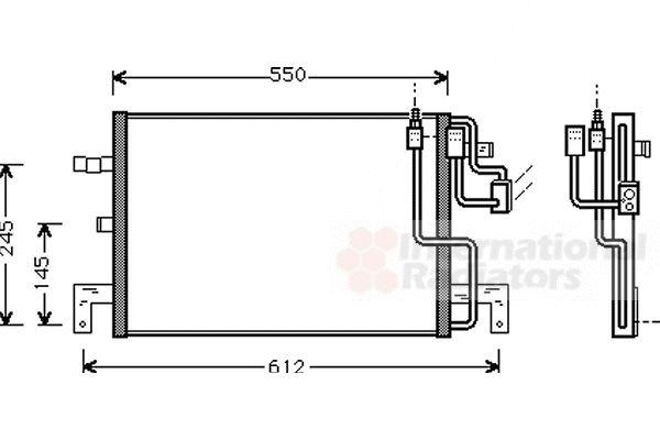 Condenseur, climatisation - VAN WEZEL - 47005032