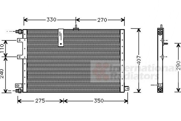 Condenseur, climatisation - VAN WEZEL - 47005033