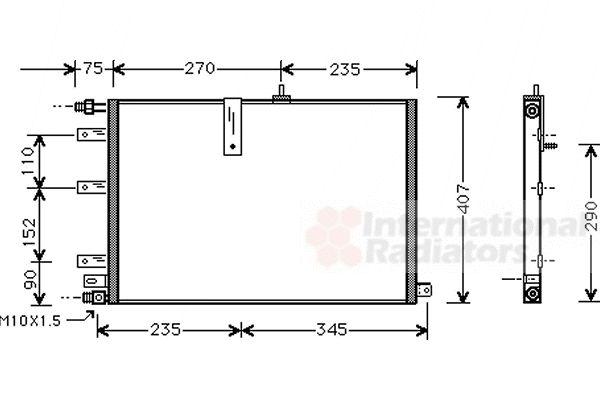 Condenseur, climatisation - VAN WEZEL - 47005038