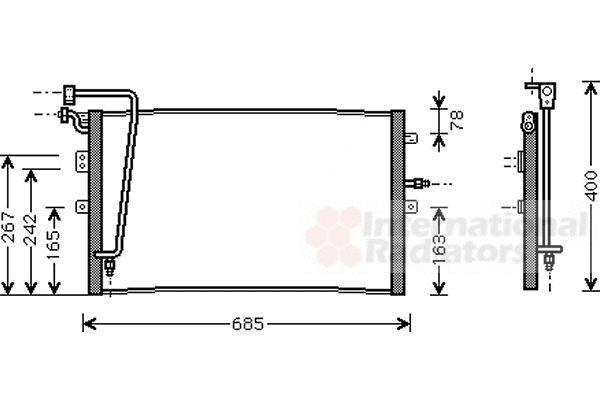 Condenseur, climatisation - VAN WEZEL - 47005039