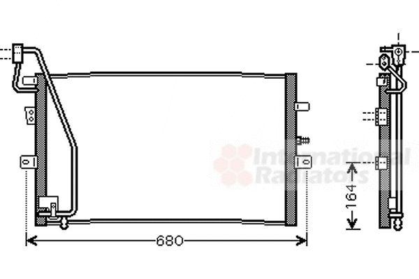 Condenseur, climatisation - VAN WEZEL - 47005056