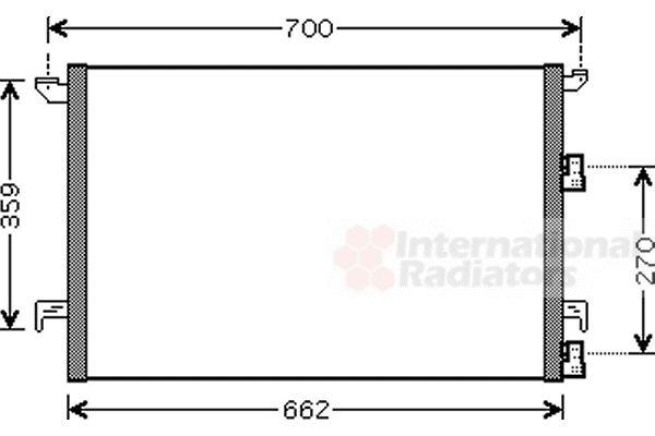 Condenseur, climatisation - VAN WEZEL - 47005060