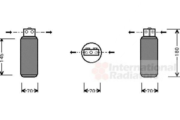 Filtre déshydratant, climatisation - VAN WEZEL - 4700D042