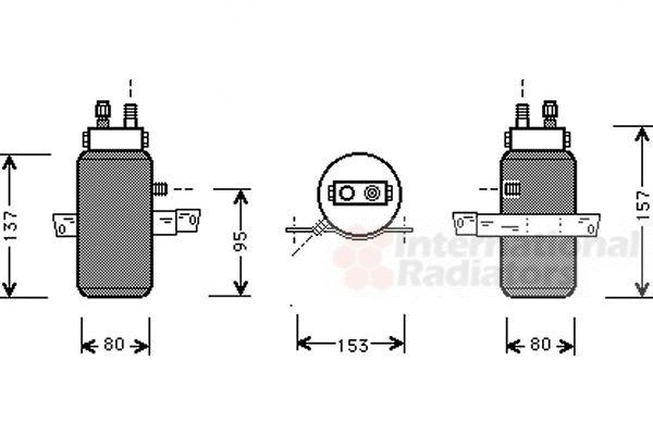 Filtre déshydratant, climatisation - VAN WEZEL - 4700D043