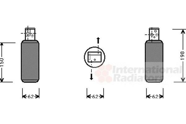 Filtre déshydratant, climatisation - VAN WEZEL - 4700D044