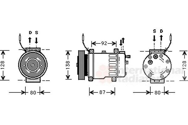 Compresseur, climatisation - VAN WEZEL - 4700K052