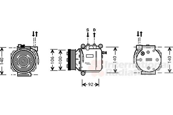 Compresseur, climatisation - VAN WEZEL - 4700K053
