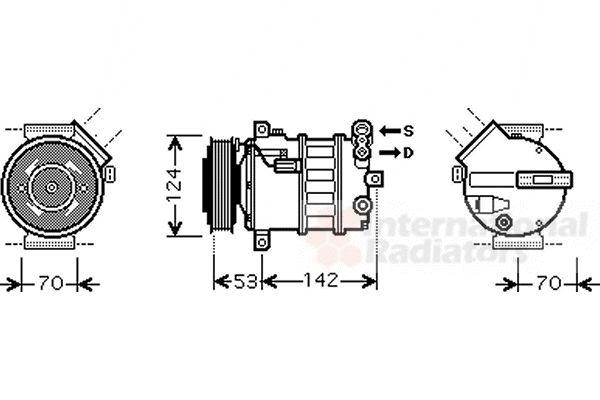 Compresseur, climatisation - VAN WEZEL - 4700K063