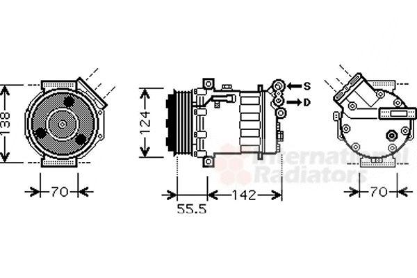 Compresseur, climatisation - VAN WEZEL - 4700K069