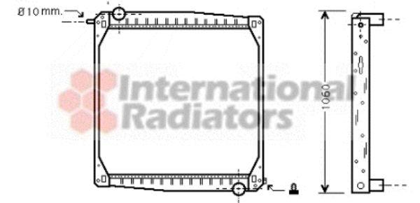 Radiateur, refroidissement du moteur - VAN WEZEL - 46002010