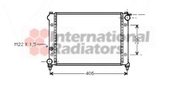 Radiateur, refroidissement du moteur - VAN WEZEL - 49002004