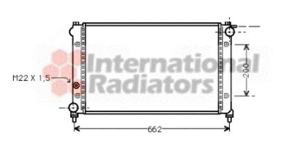 Radiateur, refroidissement du moteur - VAN WEZEL - 49002005