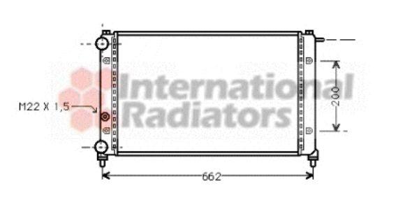 Radiateur, refroidissement du moteur - VAN WEZEL - 49002008