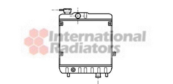 Radiateur, refroidissement du moteur - VAN WEZEL - 49002011