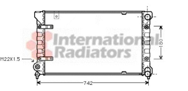 Radiateur, refroidissement du moteur - VAN WEZEL - 49002019