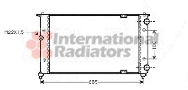 Radiateur, refroidissement du moteur - VAN WEZEL - 49002021