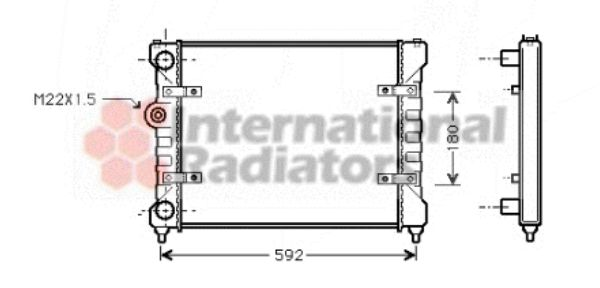 Radiateur, refroidissement du moteur - VAN WEZEL - 49002023