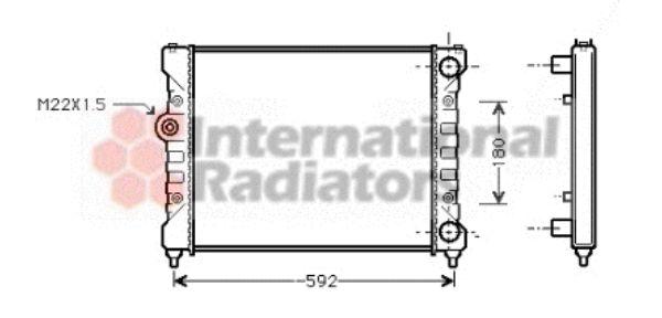 Radiateur, refroidissement du moteur - VAN WEZEL - 49002024