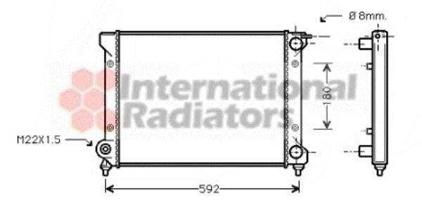 Radiateur, refroidissement du moteur - VAN WEZEL - 49002027