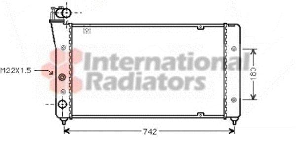 Radiateur, refroidissement du moteur - VAN WEZEL - 49002030