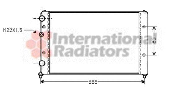 Radiateur, refroidissement du moteur - VAN WEZEL - 49002031