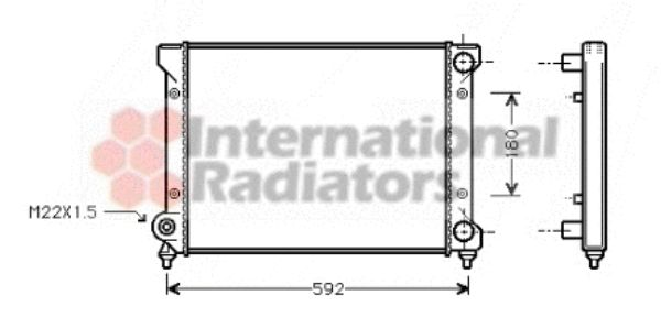 Radiateur, refroidissement du moteur - VAN WEZEL - 49002033