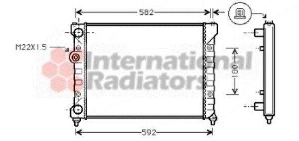Radiateur, refroidissement du moteur - VAN WEZEL - 49002035