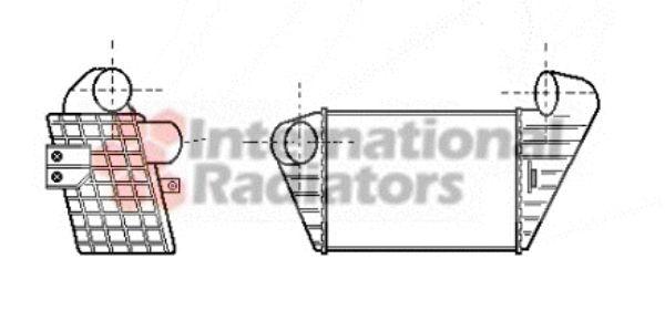 Intercooler, échangeur - VAN WEZEL - 49004034