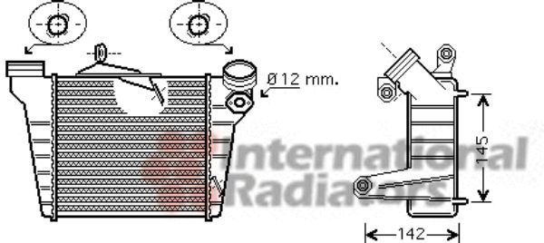 Intercooler, échangeur - VWA - 88VWA49004036