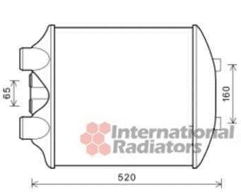 Intercooler, échangeur - VAN WEZEL - 49004040