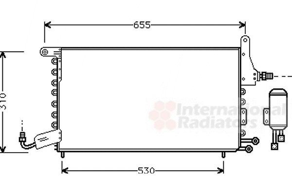 Condenseur, climatisation - VAN WEZEL - 49005026