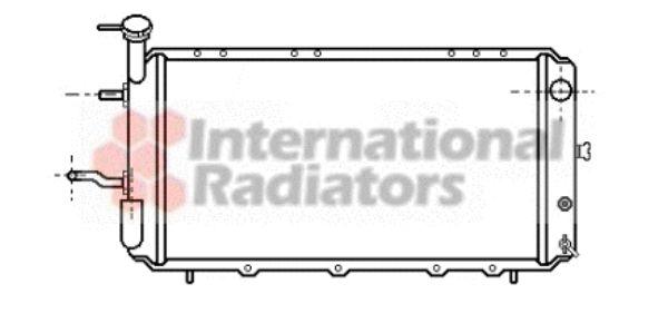Radiateur, refroidissement du moteur - VAN WEZEL - 51002006