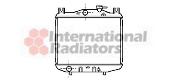 Radiateur, refroidissement du moteur - VAN WEZEL - 51002007