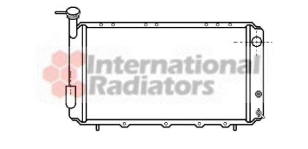 Radiateur, refroidissement du moteur - VAN WEZEL - 51002008