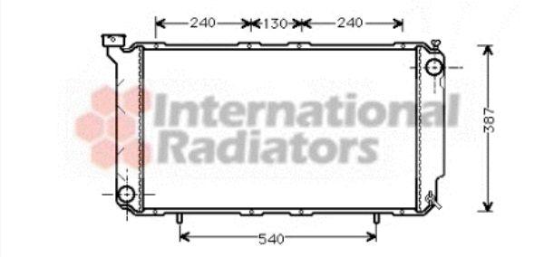 Radiateur, refroidissement du moteur - VAN WEZEL - 51002010