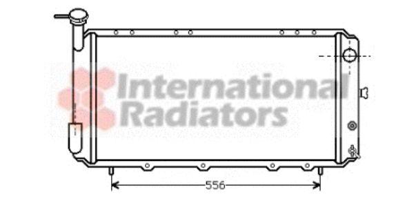 Radiateur, refroidissement du moteur - VAN WEZEL - 51002011