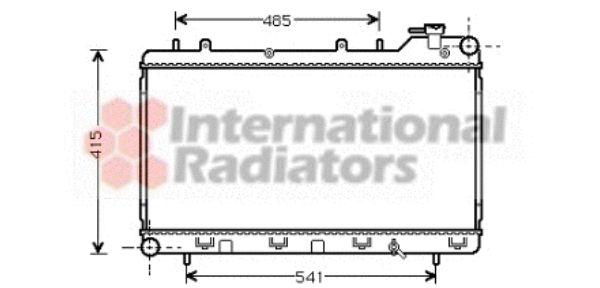 Radiateur, refroidissement du moteur - VAN WEZEL - 51002015