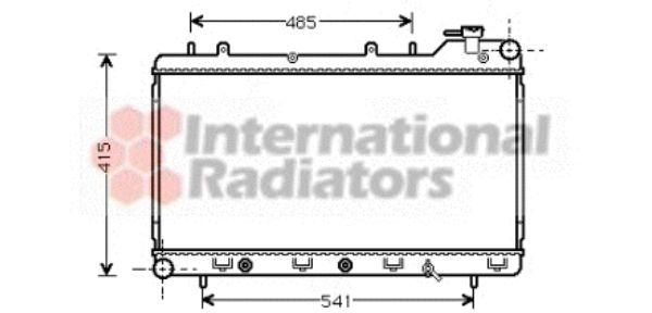 Radiateur, refroidissement du moteur - VAN WEZEL - 51002016