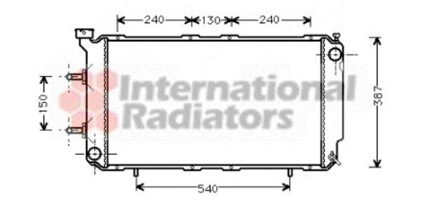 Radiateur, refroidissement du moteur - VAN WEZEL - 51002018