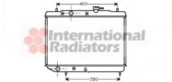 Radiateur, refroidissement du moteur - VAN WEZEL - 51002019