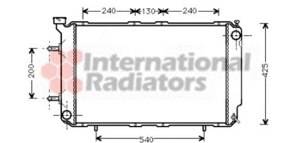 Radiateur, refroidissement du moteur - VAN WEZEL - 51002032