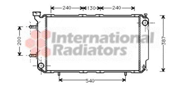 Radiateur, refroidissement du moteur - VAN WEZEL - 51002035